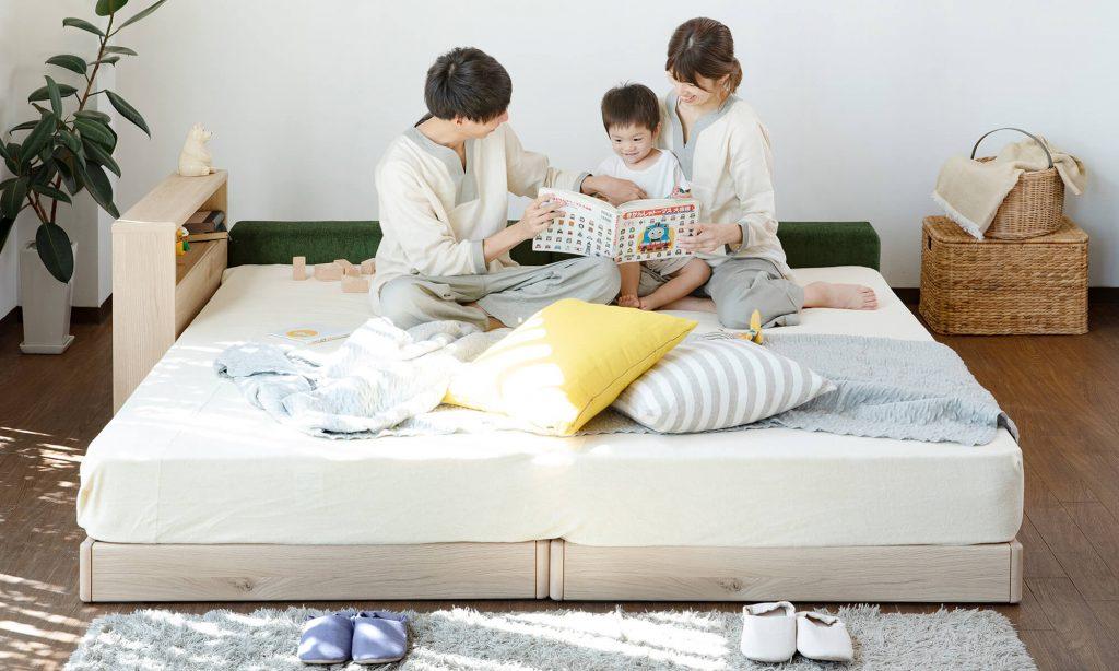 子どもも含めて家族みんなで寝たい人にはファミリーベッドがいおすすめ