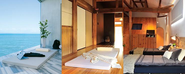 直置きで使用すれば、ベッドフレームがない分、マットレスの存在感が減り、部屋を広く見せられます