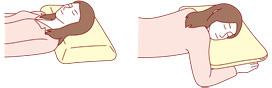 横向きに寝る人とうつ伏せに寝る人では、使いやすい枕の形状や質感も異なる