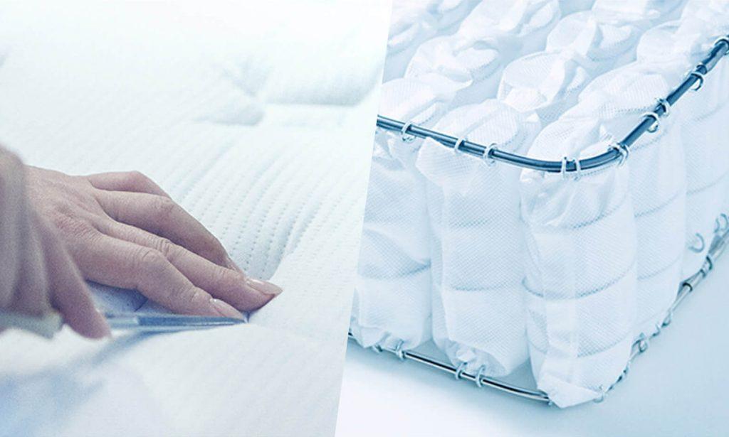 ポケットコイルマットレスはコイルの数が多いほどからだを支える点が多くなるので包み込まれるような寝心地が得られるが、その分価格も高くなる。
