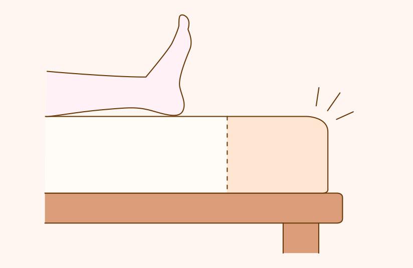長さが207cmの「ロングサイズ」のベッドもあります